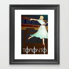 Toronto Transit Framed Art Print