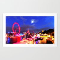 London At Night Art Print