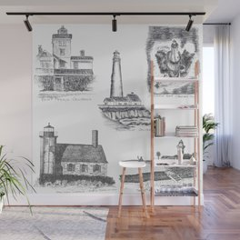 Little Lighthouses Wall Mural