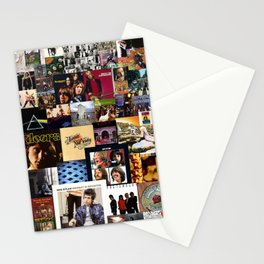Classic Rock And Roll Albums Collage Stationery Cards