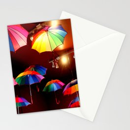 The Rainbow Party Lights Stationery Cards