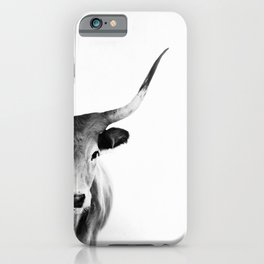 Honey - black and white iPhone Case