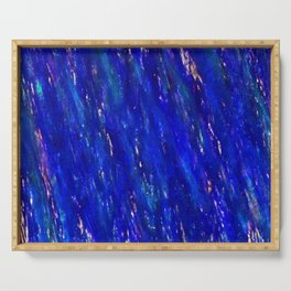 Color gradient and texture 31 dark blue Serving Tray
