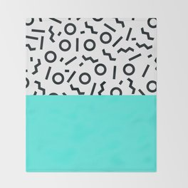 Memphis pattern 43 Throw Blanket