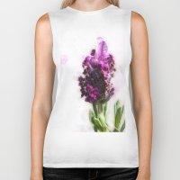 lavender Biker Tanks featuring Lavender by Carmen Lai Graphics