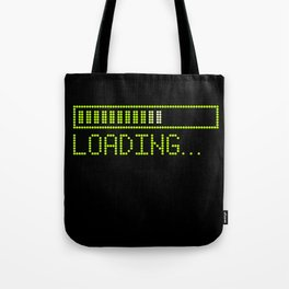 Green Loading Time Bar Tote Bag