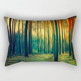 Green Forest Rectangular Pillow