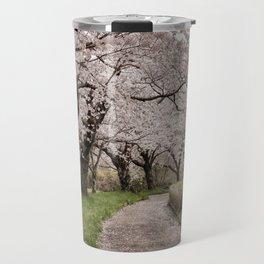 Row of cherry blossom trees Travel Mug