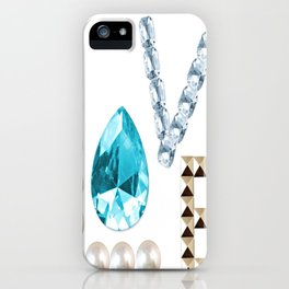 LOVE jewel iPhone Case