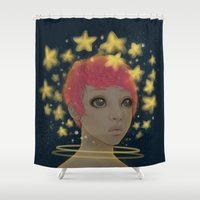 astronaut Shower Curtains featuring Astronaut by Edge
