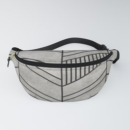 Concrete Chevron Pattern Fanny Pack