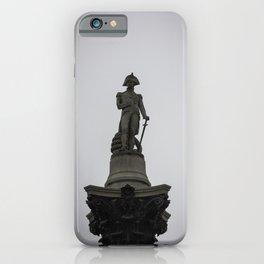 Admiral Nelson Statue atop Nelson's Column Trafalgar Square London England iPhone Case