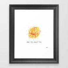 Feelings Ball Framed Art Print