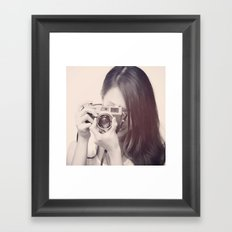 Black and White Love  Framed Art Print