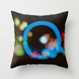 Lights in the city Throw Pillow