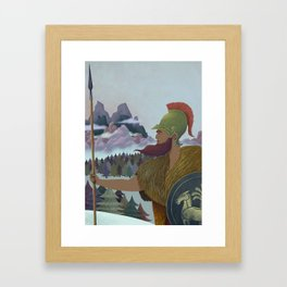 Hannibal crossing the Alps Framed Art Print