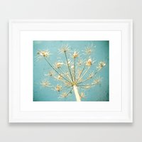 umbrella Framed Art Prints featuring Umbrella by Cassia Beck