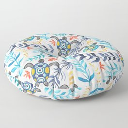 Gouache Sea Turtle Serenity Floor Pillow