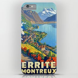 Vintage poster - Territet Montreaux iPhone Case