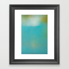 Sea Between - Turquoise water abstract art Framed Art Print