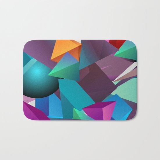 3D Geometric Bath Mat