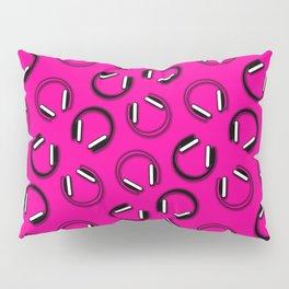 Headphones-Pink Pillow Sham