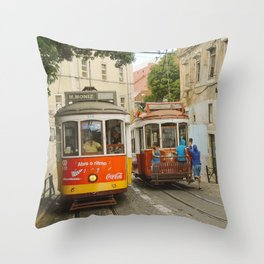 Tram Coca 2 Throw Pillow