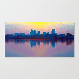 Come Sit With Me At Sloan Lake Downton Denver Coloado Canvas Print
