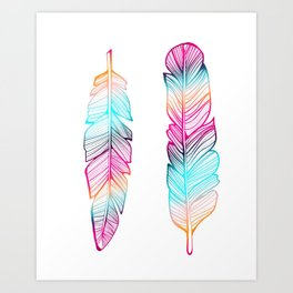 Gypsy Feathers, Feather Art Art Print