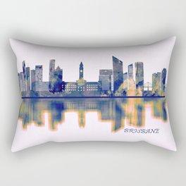 Brisbane Skyline Rectangular Pillow
