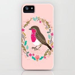 European Robin by Andrea Lauren  iPhone Case