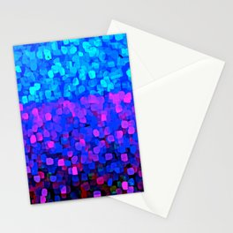 Sparkles Glitter Blue Stationery Cards