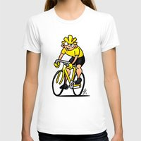 cycling T-shirts featuring Cyclist - Cycling by Cardvibes.com - Tekenaartje.nl