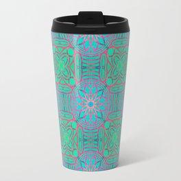 Pink Lotus Lattice Travel Mug