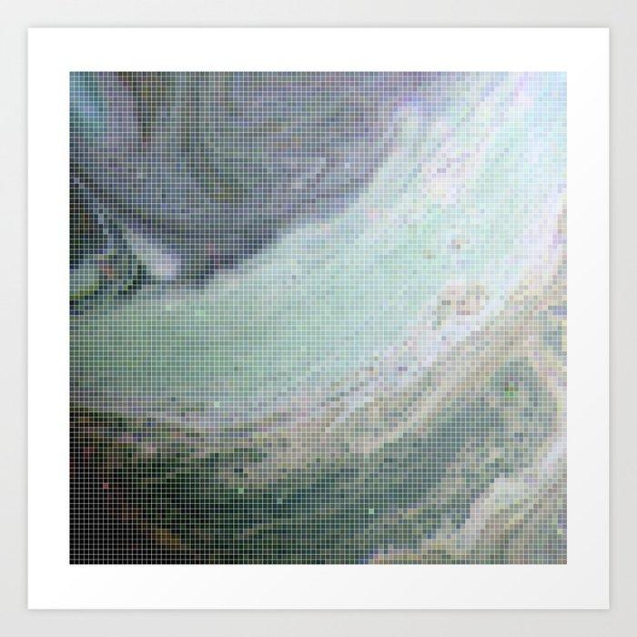 Saturn Infrared Art Print
