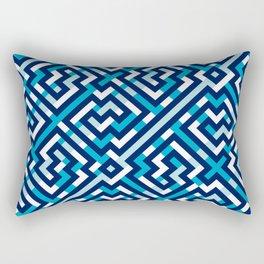 Artis 1.0, No.2 in Warm Blue Rectangular Pillow