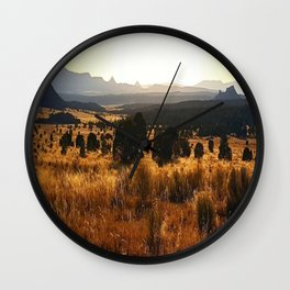 Sawtooth Mountains - New Mexico Wall Clock