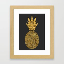 Bullion Rays Pineapple Framed Art Print