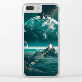 """Path to a portal,planets,cave """"edge of the world"""" Clear iPhone Case"""