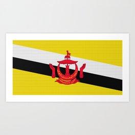 Brunei Flag (Patchwork Look) Art Print
