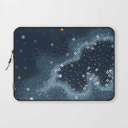 Grey Rift Galaxy (8bit) Laptop Sleeve