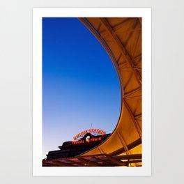 Denver Union Station at Blue Dawn Art Print