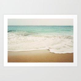 Ombre Beach Art Print