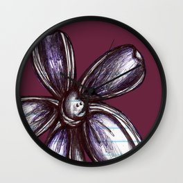 """Bound up by Bandages"" Flowerkid Wall Clock"