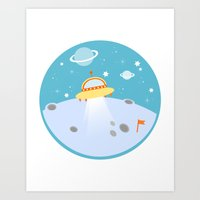 outer space Art Prints featuring Outer Space by Limitation Free