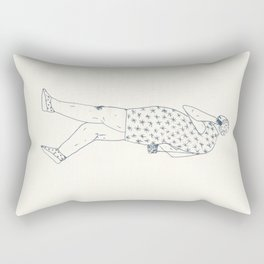 woman with phone Rectangular Pillow