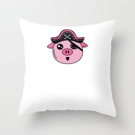 Piggy Pirate - Pig Throw Pillow