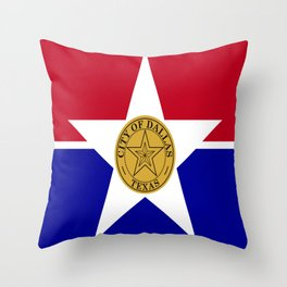 American cities-  Flag of Dallas. Throw Pillow
