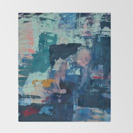 The Peace of Wild Things: a vibrant abstract piece in a variety of colors by Alyssa Hamilton Art Throw Blanket