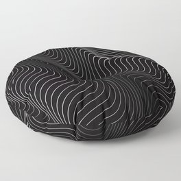 Minimal curves II Floor Pillow